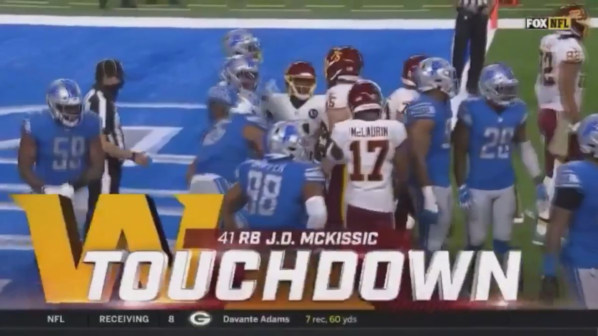 Former Arkansas State star J.D. McKissic scored his first TD of 2020 in a 30-27 Washington loss...