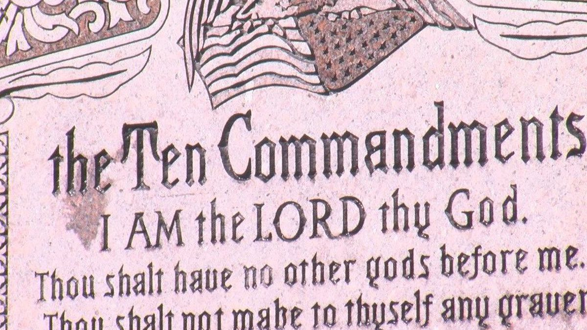 A trial seeking the removal of a privately funded Ten Commandments monument from the Arkansas...