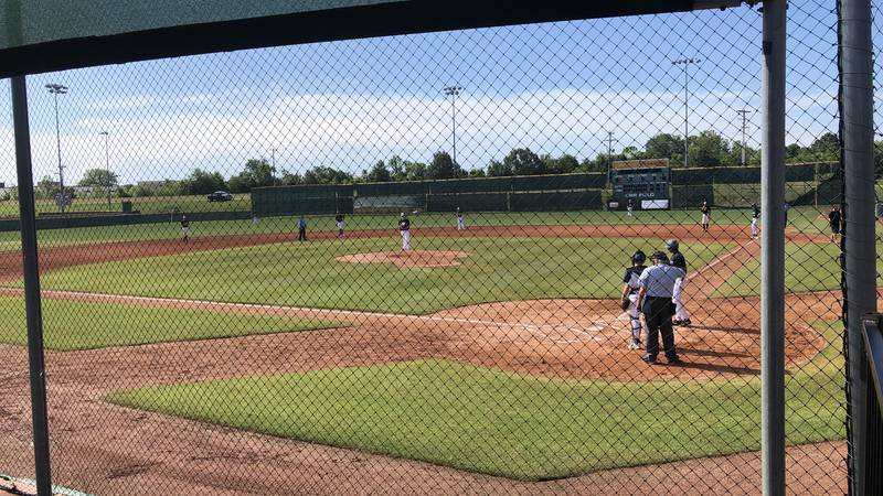 Gameday baseball hosts first live sporting event since coronavirus shut down sports in the...