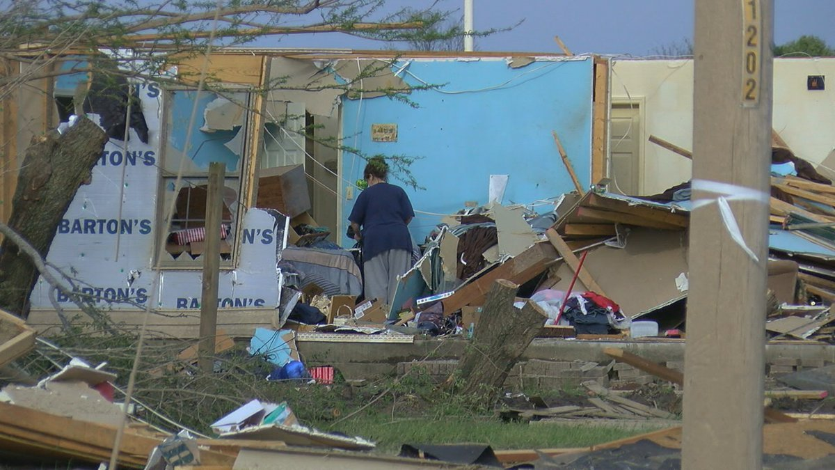 Wednesday nights storm adds more tornado victims for this area.