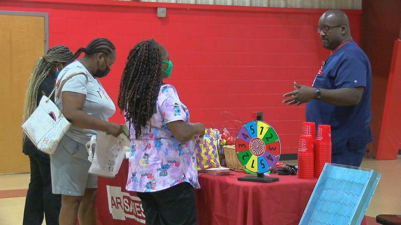 Residents are learning more about strokes at the resource fair at Parker Park Community Center