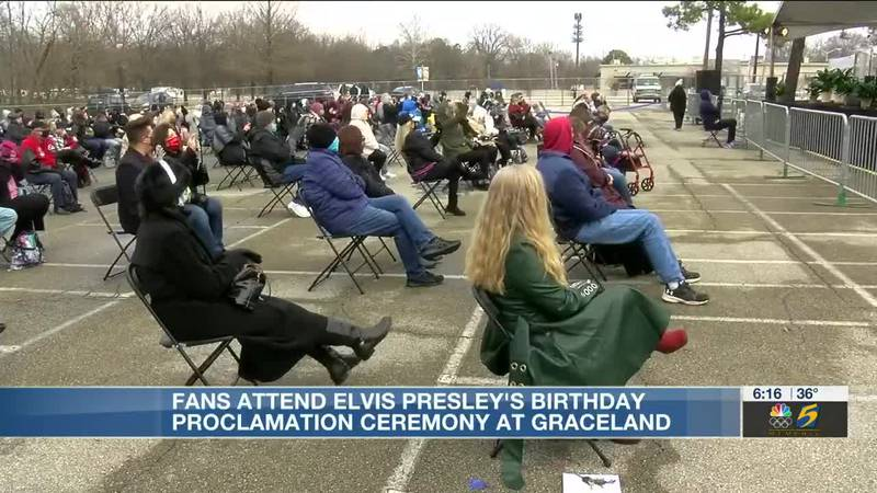 Elvis fans celebrate the King of Rock'n'Roll's 86th birthday