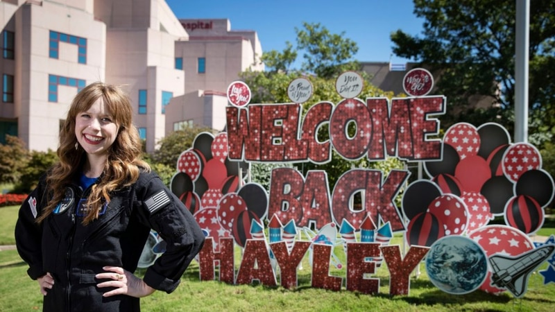 St. Jude's Hayley Arceneaux returns