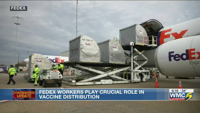 FedEx workers play crucial role in vaccine distribution