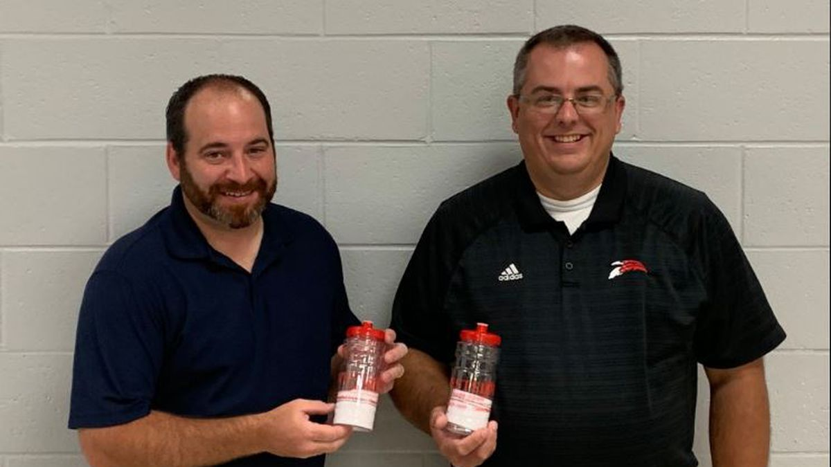 On Monday, Friendship Assembly of God donated 500 water bottles for returning students.