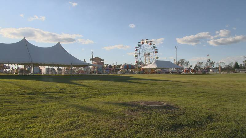 The NEA District Fair's carnival starts Thursday. The rides are up, and vendors are putting the...