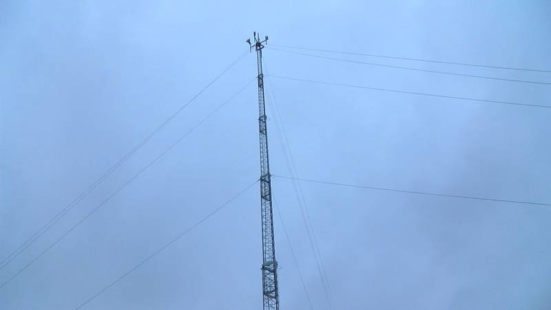 SkyFi WHISPernet installed a new 120-foot tower to support wireless 5g inside the city of Amagon.
