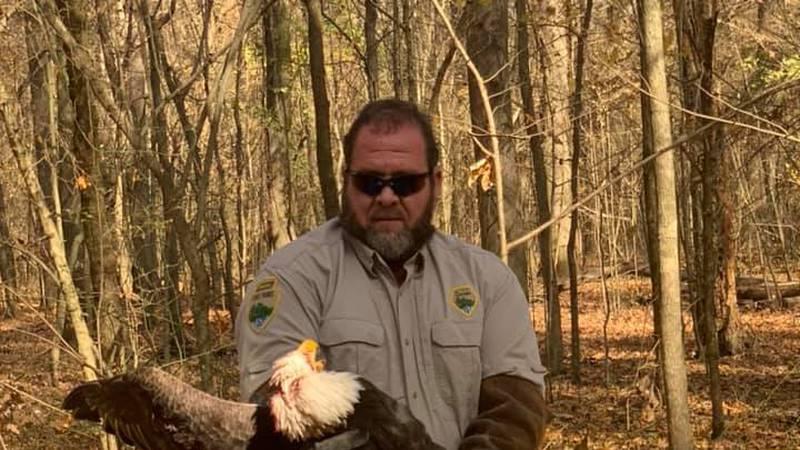 Ranger Douglas with bald eagle