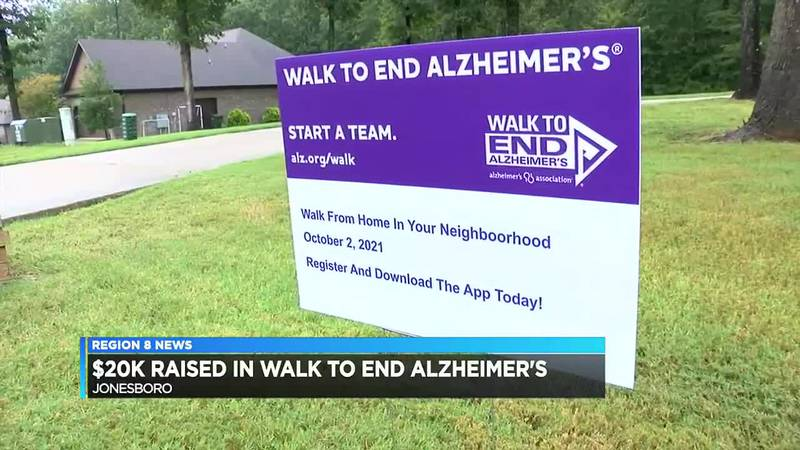 $20K raised in walk to end Alzheimer's