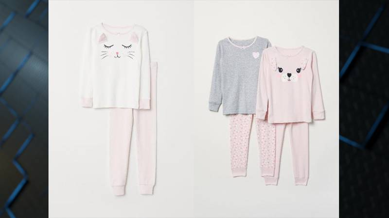 These kids' pajamas, sold by H&M, were recalled Thursday, July 25 for posing a burn risk to...