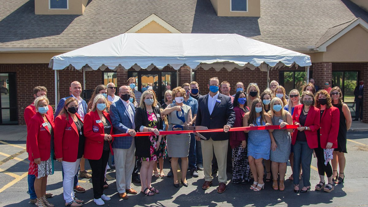 The Jonesboro Chamber of Commerce held a ribbon cutting ceremony Tuesday to open their new NEA...
