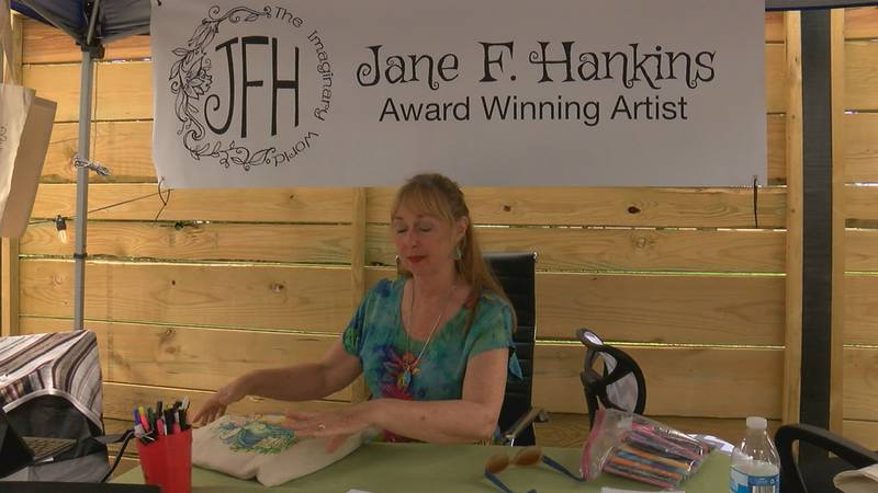 Artists from all over Region 8 showed off their work Saturday afternoon.