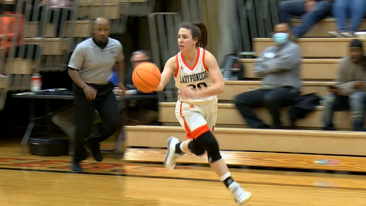 Batesville guard & Missouri signee Isabella Higginbottom leads the break Friday in the 5A East...