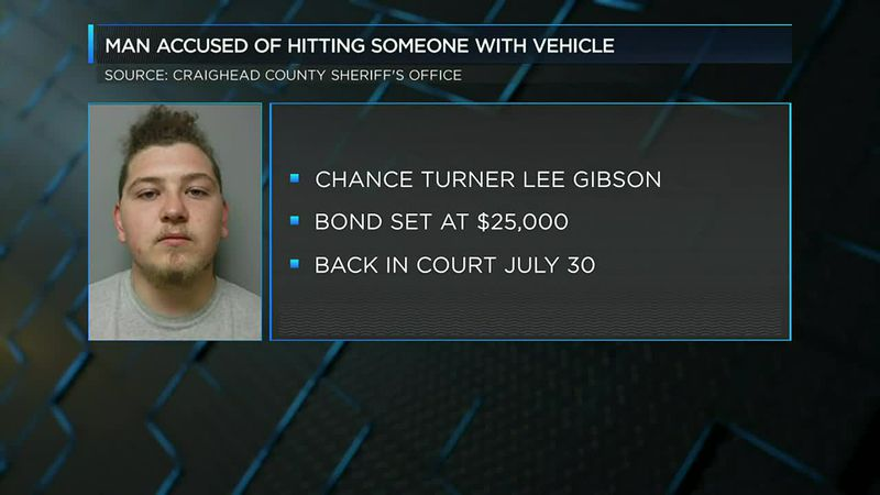 Man accused of hitting someone with vehicle