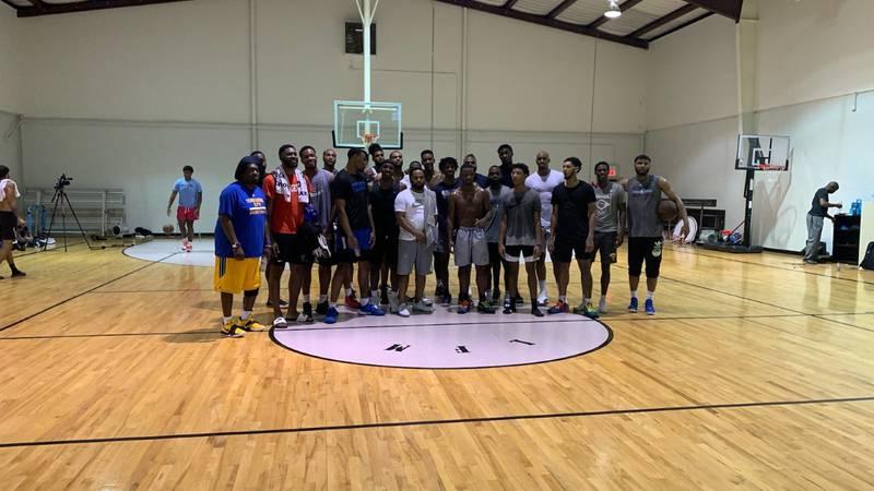 Top Memphis basketball players gather to play ball.