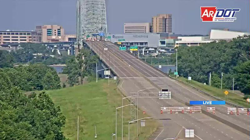 Shot of I-40 Bridge