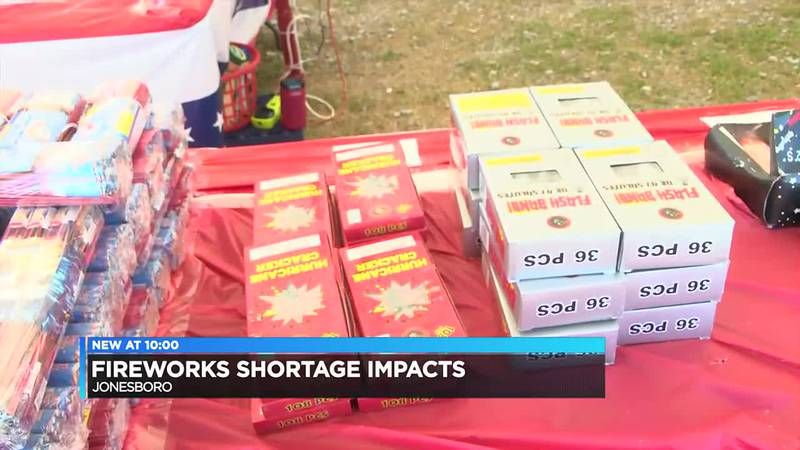 Possible fireworks shortage could hurt upcoming holiday