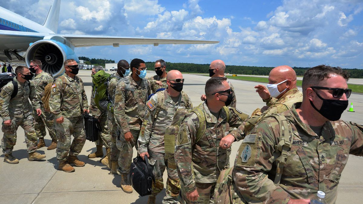 North Carolina welcomed home 120 soldiers Saturday after they spent a year deployed in the...