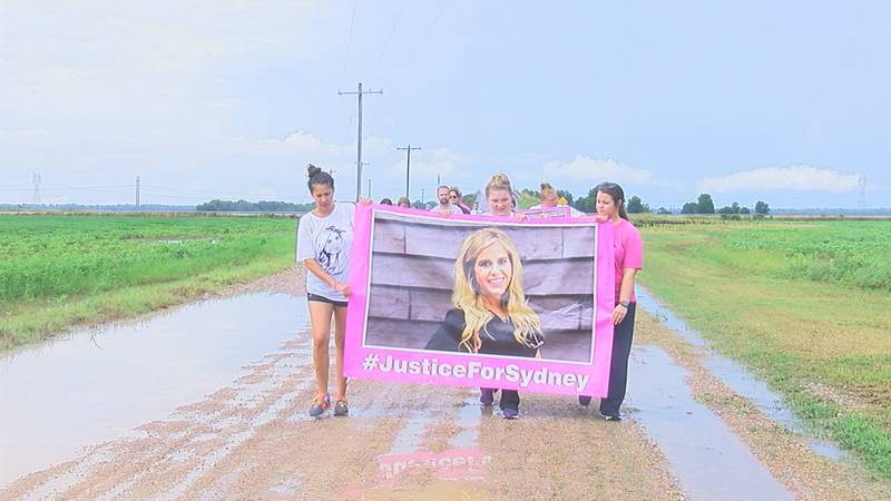 A group of family and friends walked together to honor Sutherland