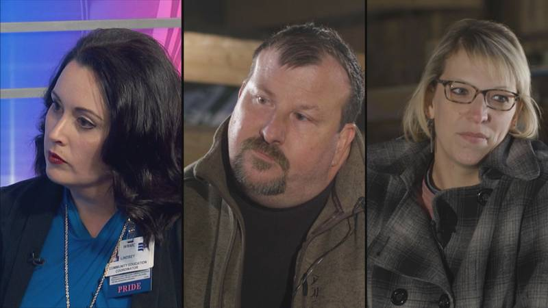 Lindsey Bowers, John Kunkel and Myranda Hobbs