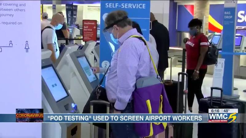 """""""Pod Testing"""" used to screen airport workers"""