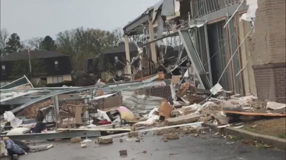 Kirkland's in Jonesboro sustained severe damage during the storm.