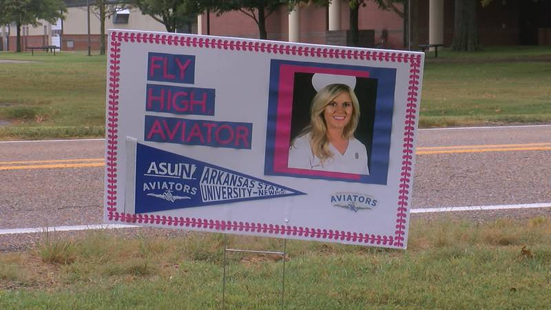 Schools across Jackson County made signs to place along the route of the 5K.