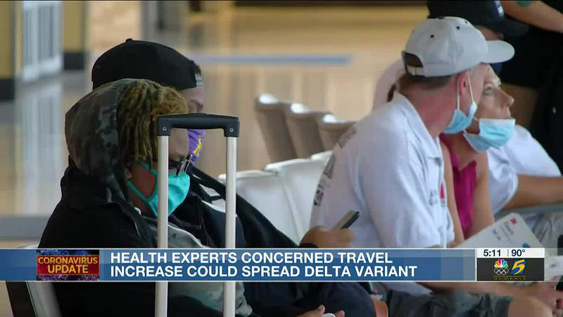 Health experts concerned travel increase could spread delta variant