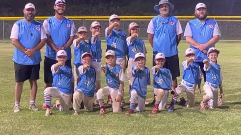 Youth baseball team celebrate a comeback season