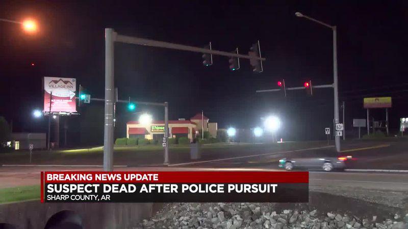Suspect dead after police pursuit