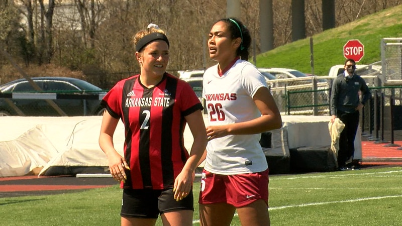 Arkansas State women's soccer faced #18 Arkansas Saturday in a historic matchup.