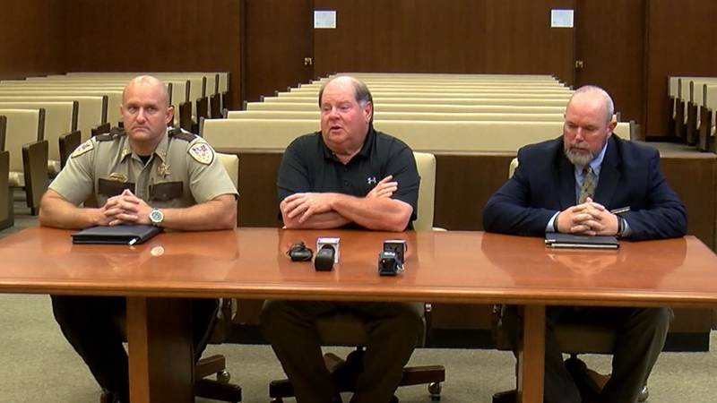 DA John Champion hold briefing with officials after fatal concert shooting