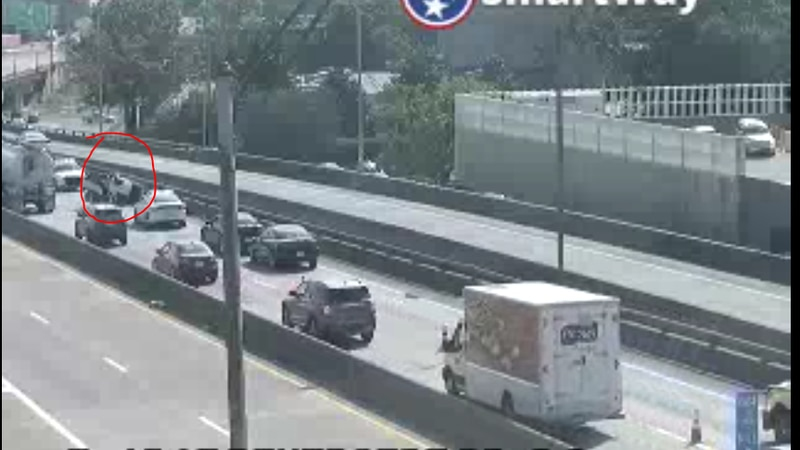 An overturned vehicle on the I-40 bridge is causing traffic delays from West Memphis to Memphis.