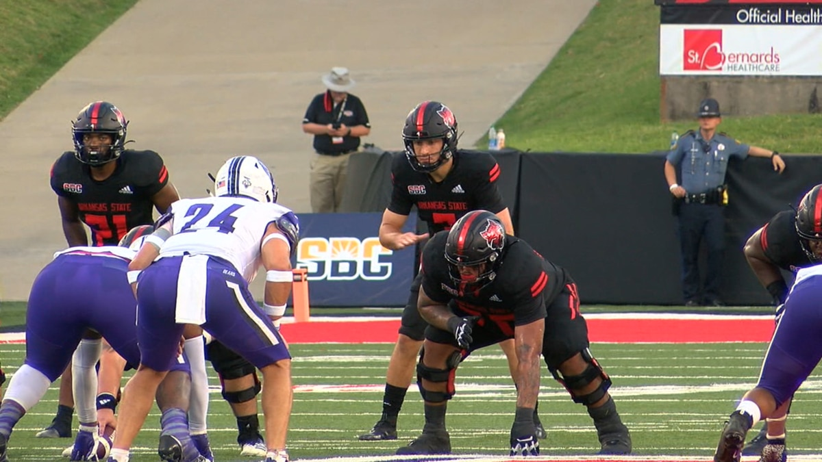 Arkansas State QB Layne Hatcher was 12 of 12 passing in the 2021 season opener. He had 4 TD in...