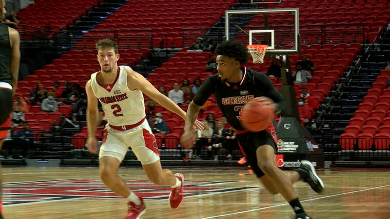 Desi Sills had 33 points Wednesday night in the Arkansas State basketball scrimmage. He left...