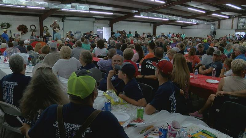 Thousands in attendance for Sheriff battling cancer