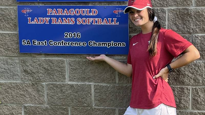 Arkansas softball great Braxton Burnside is back home in NEA. She helped out at the Paragould...