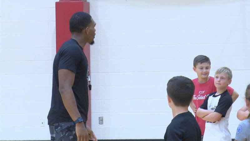 Kids K-12 from all over the NEA began a four day camp with the ASU basketball team