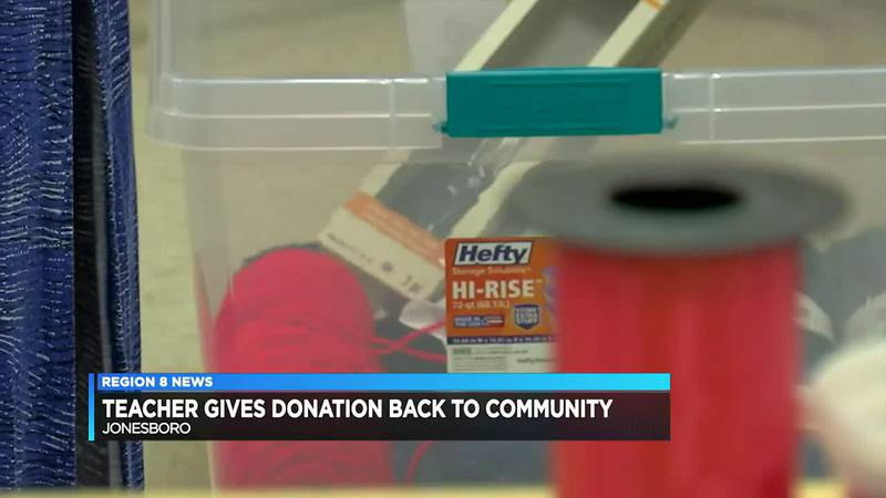 Teachers use thousands of dollars to help others