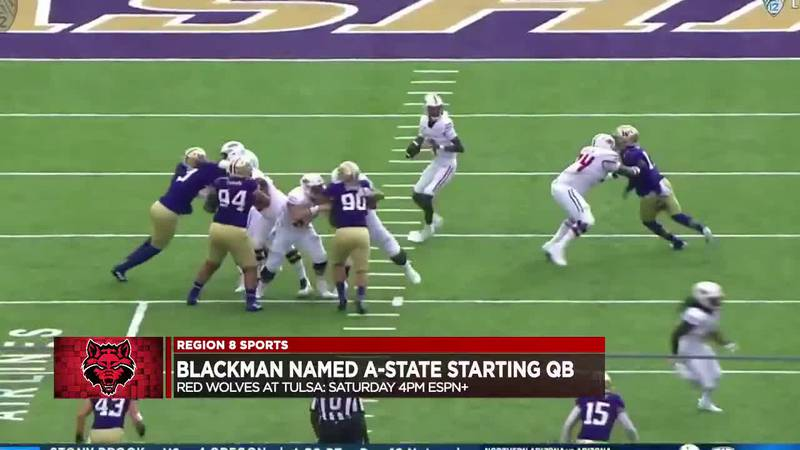 Named Arkansas State starting QB for Week 3