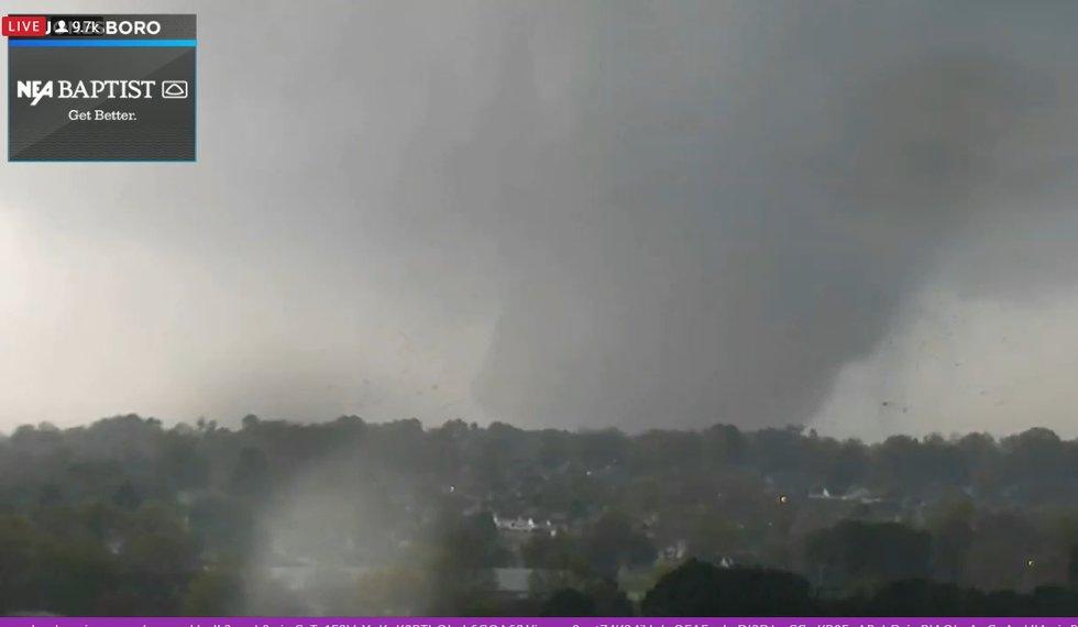 Massive tornado tracks through Jonesboro, Ark. area Saturday afternoon