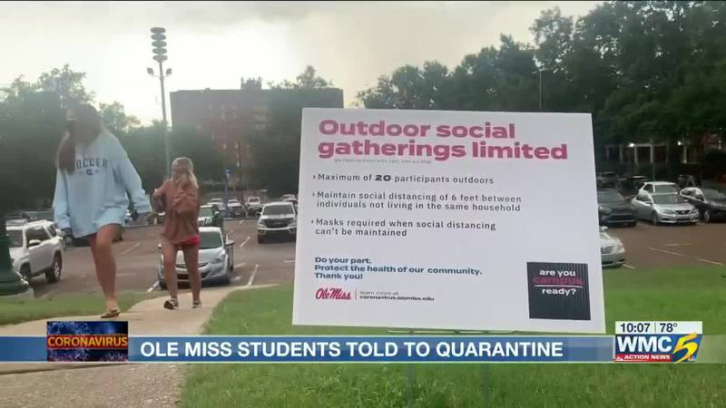 Ole Miss dorm closed due to COVID-19 cluster