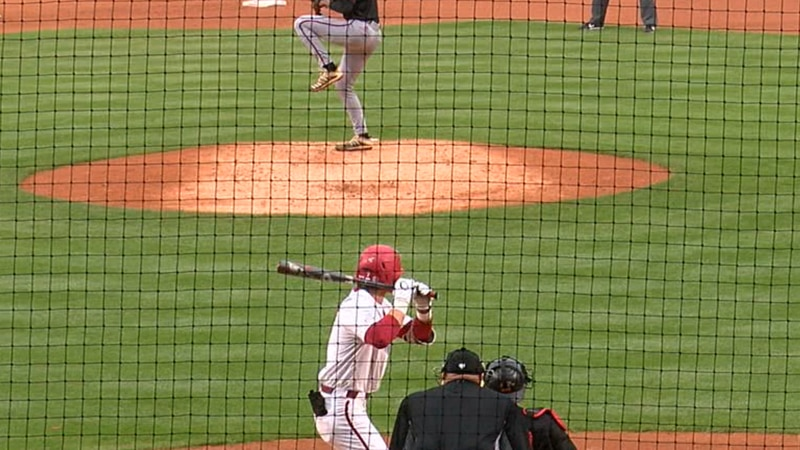 Cayden Wallace hit a grand slam Tuesday as the Razorbacks beat the Red Wolves 8-4.
