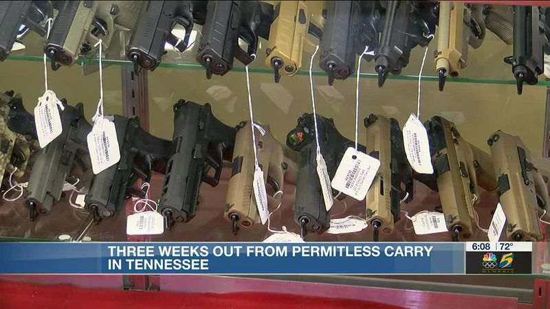 Three weeks out from permitless carry in Tennessee