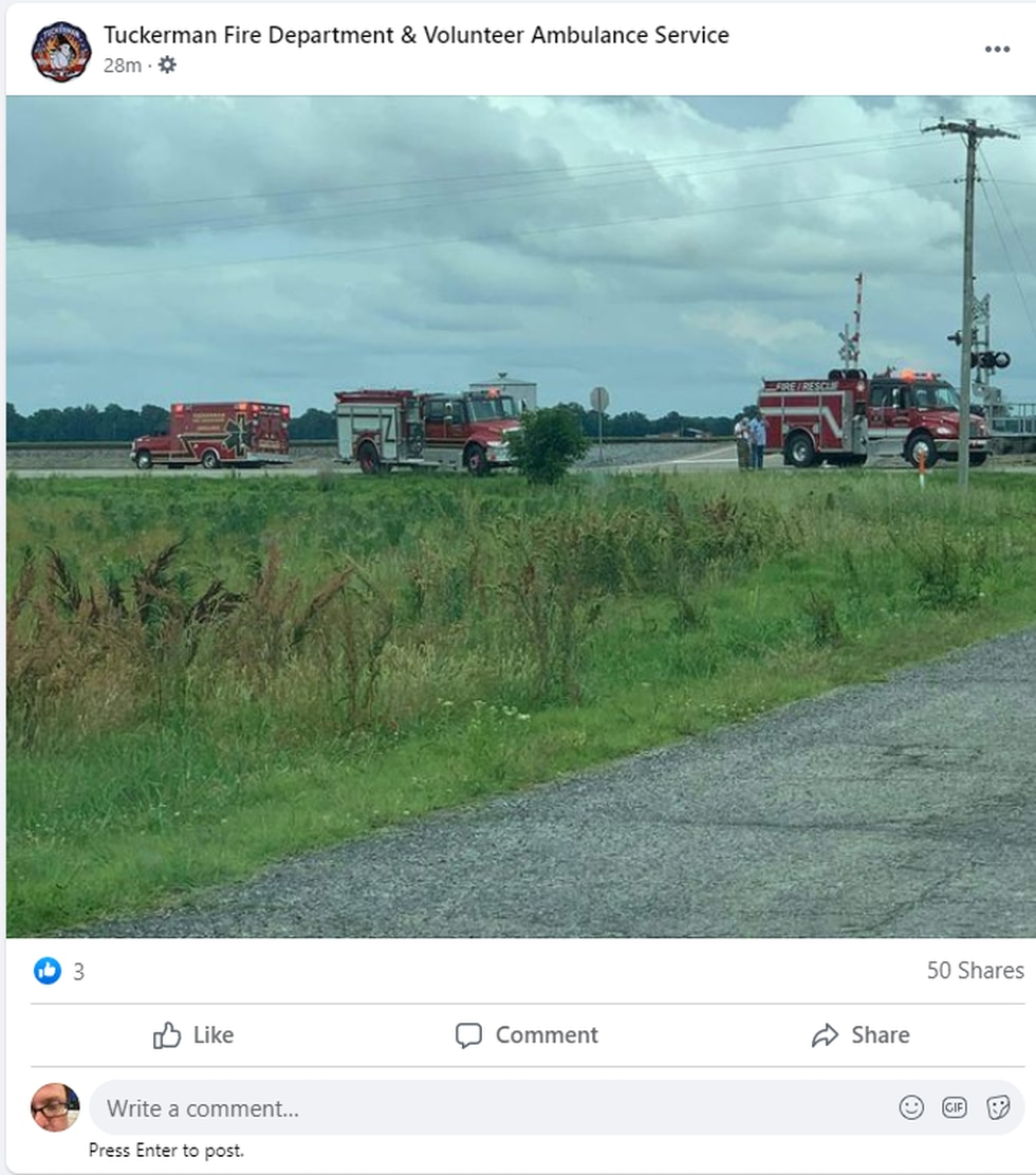 Tuckerman emergency crews have responded to a haz mat situation near the Jackson County town.