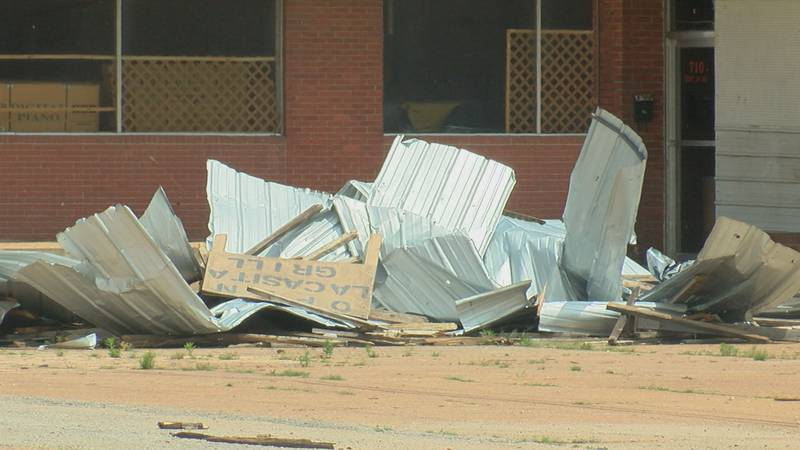 Businesses along Highway 67 are still cleaning up after May's storm.