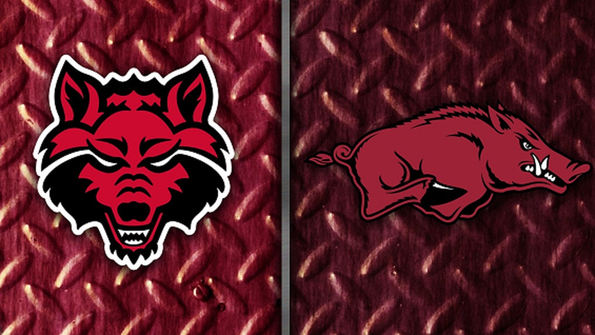 Arkansas State and Arkansas logos