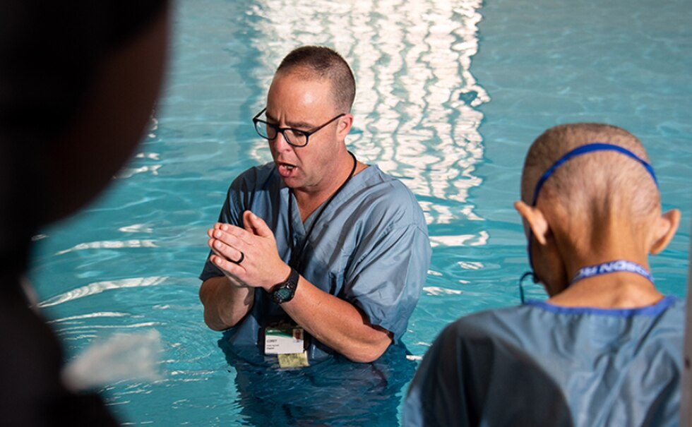 Man with cancer baptized days before he died. SOURCE: UAB