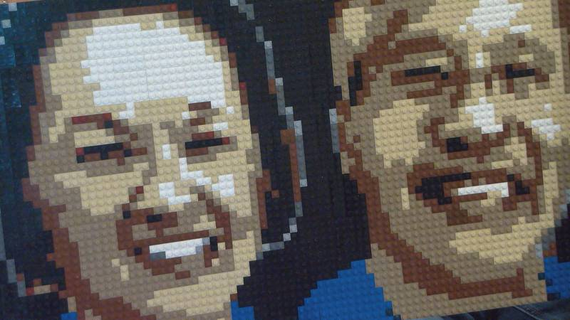 A Lego portrait was delayed for six months due to shortage