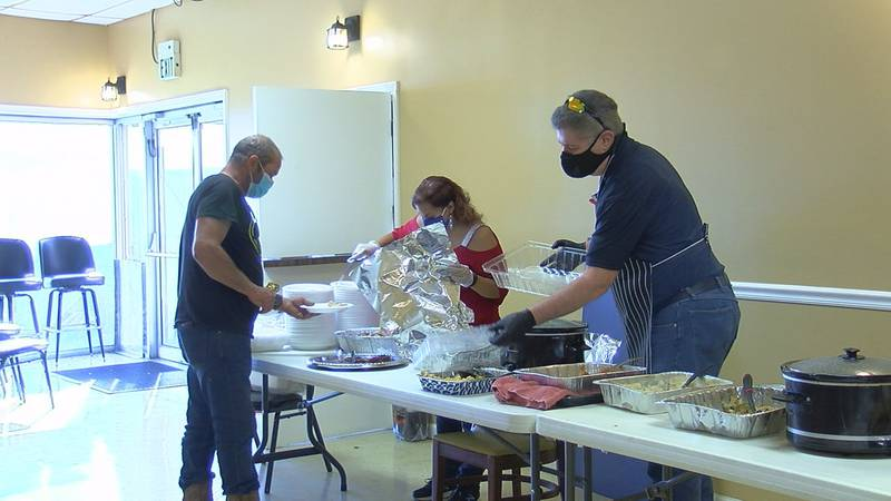 Jonesboro's VFW Post fed over 100 people a hot Thanksgiving meal Thursday.